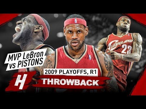 MVP LeBron James in His Prime Years! Full Series Highlights vs Pistons 2009 NBA Playoffs - BEAST!