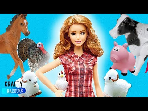10 Barbie Hacks and Crafts- DIY Miniature Farm For your Dolls
