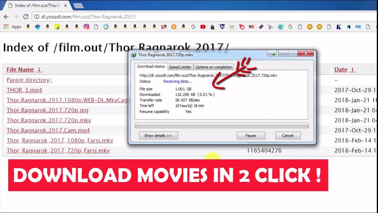 Download Movies in Just 2 Clicks !!!