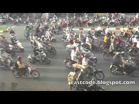 How many motorbike in this clip? Sai Gon  Ho Chi Minh city  Vietnam
