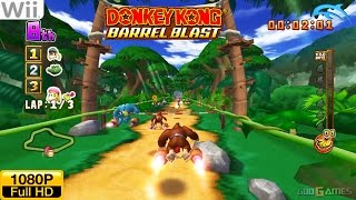 Donkey Kong Barrel Blast - Wii Gameplay 1080p (Dolphin GC/Wii Emulator)