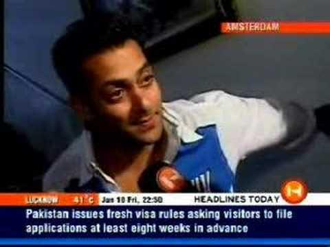 Salman Khan , Ali Larter interview 2005 (Marigold movie)