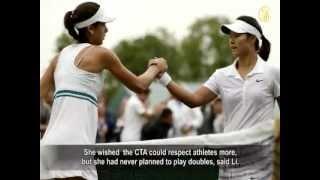"""Li Na """"Double-Crossed"""" by China"""