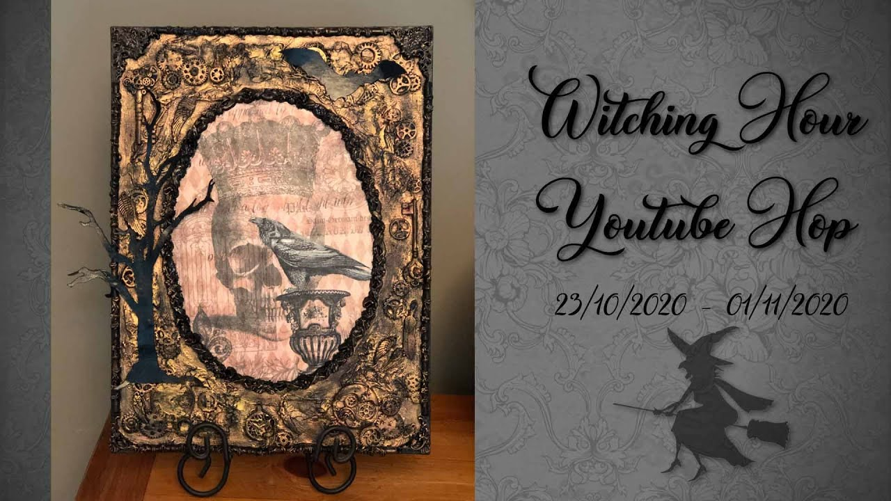 [Closed] Spooky Skull and Raven Canvas - Witching Hour Youtube Hop