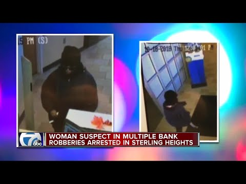 Woman suspected in multiple bank robberies arrested in Sterling Heights