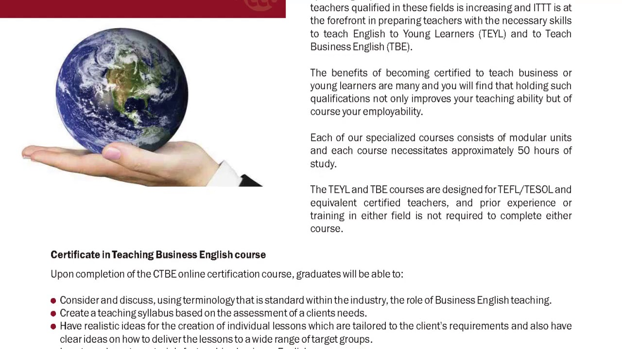 International Tefl And Tesol Training Ittt Tefltesol Online