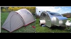 Tent vs Teardrop Trailer in the rain