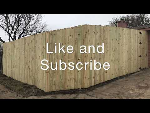 How to install an 8 ft Fence yourself (Best explanation)