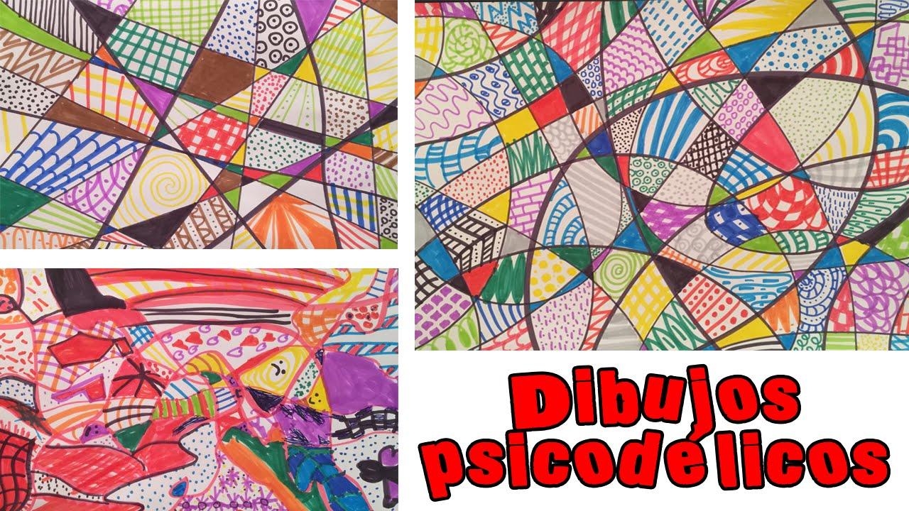 C mo hacer un dibujo psicod lico youtube for Imagenes de cuadros abstractos faciles de hacer