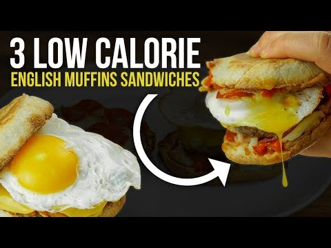 3 Low Calorie/Macro Friendly English Muffin Sandwich Recipes!