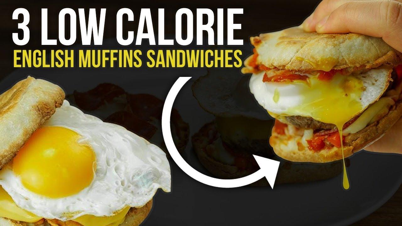 3 Low Calorie Macro Friendly English Muffin Sandwich Recipes