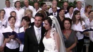 LA VERA GIOIA matrimonio MARIO e MANUELA 13-07-13  Coro Chiesa San Nicola Bari GANZIRRI (ME)