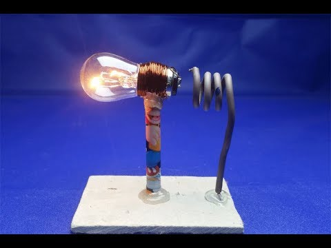 100% free energy generator at home , science exhibition for light bulb