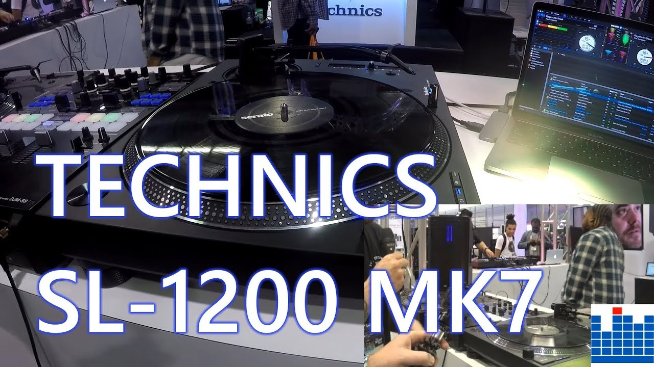 NAMM 2019: First look at the Technics SL-1200 MK7!