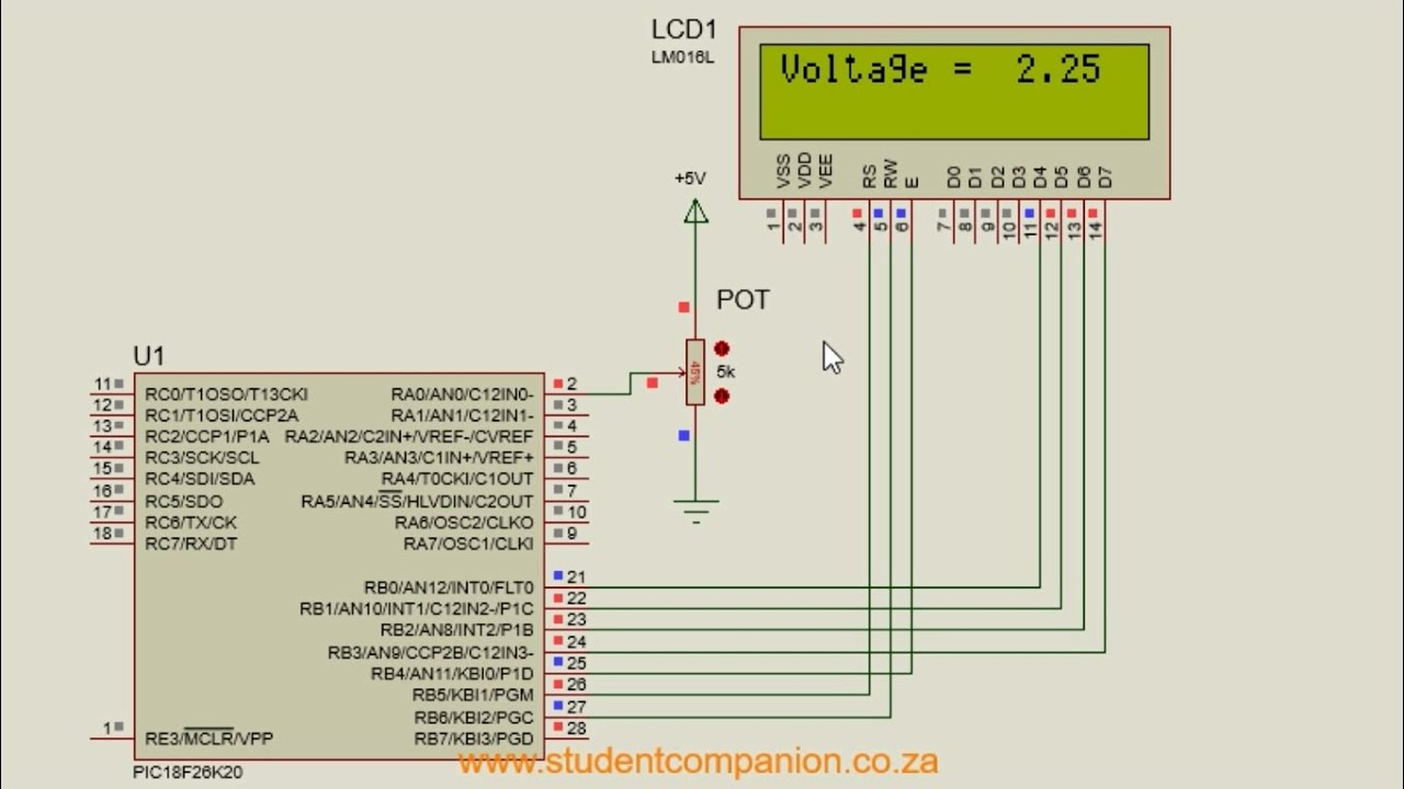 MPLAB XC8 for Beginners Tutorial -22- ADC and LCD with MPLAB Code  Configurator