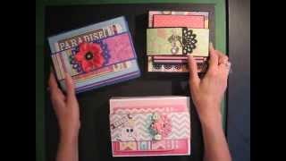 Fold-out Folio Scrapbook Mini Album (Tutorial available)