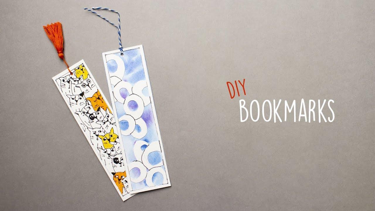 2 Easy Bookmarks | DIY Bookmarks | Bookmark Ideas