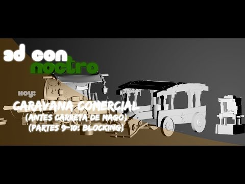 3D Carro y Assets Handpainted (Parte 9: Blocking)