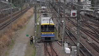ゆうマニ甲種輸送⑤ Y000系が授受線から長津田駅へ移動。
