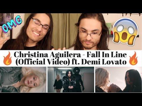 Christina Aguilera - Fall In Line   ft Demi Lovato I Our Reaction  TWIN WORLD