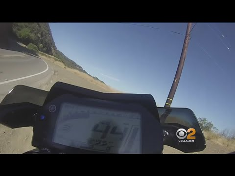 Caught On Tape: Motorcyclist Flies Off Cliff, Lives To Tell About It