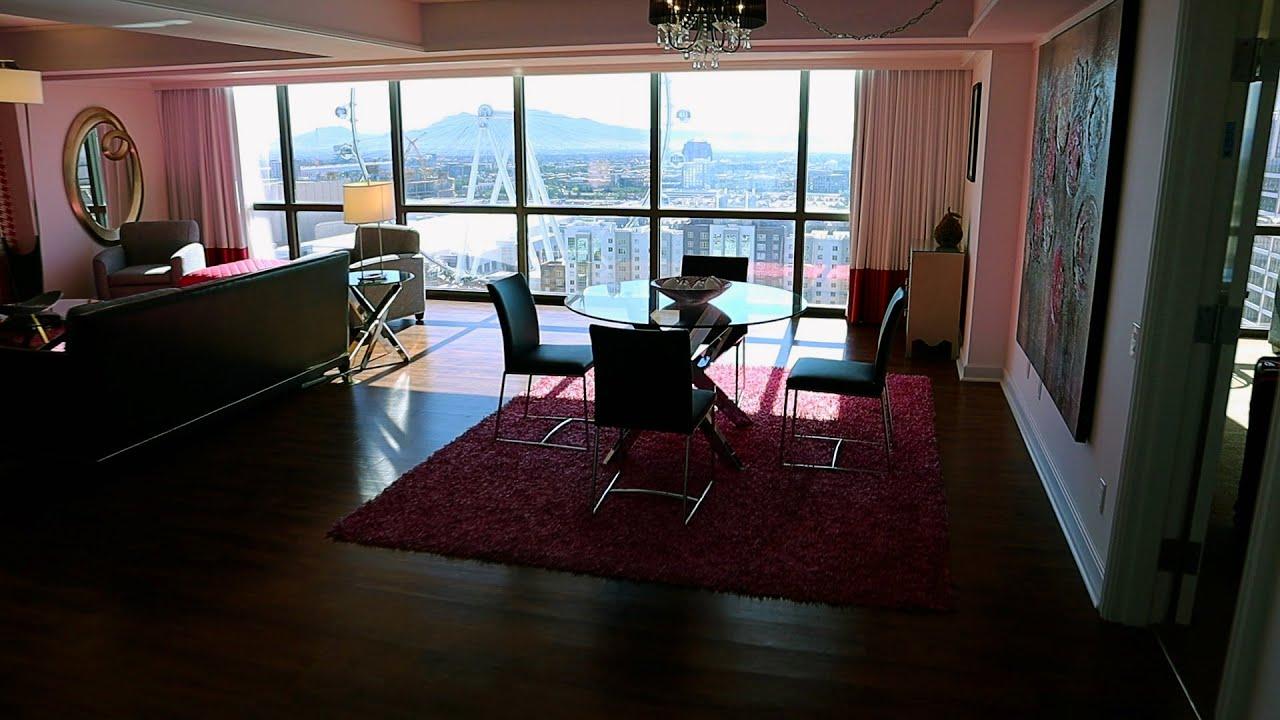 Las Vegas Flamingo Forever Fab Suite Hotel Room Tour Review Youtube