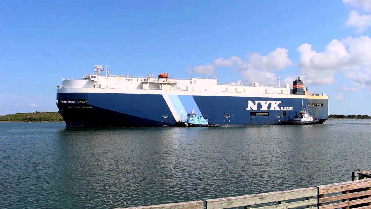 Vehicle Carrier Ship NYK Line's Neptune Leader Begins Monthly Service at  Port Canaveral
