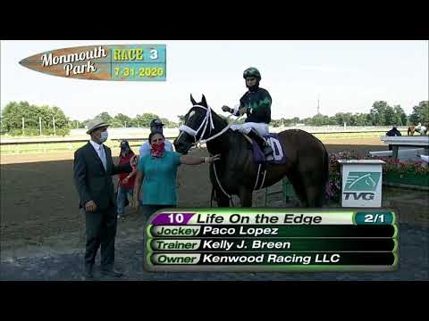 video thumbnail for MONMOUTH PARK 07-31-20 RACE 3