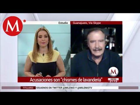 """Fox: """"Chismes de lavanderas"""" acusaciones de Cevallos y AMLO en mi contra"""
