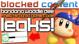 WADDLE DEE in Smash Ultimate & LEAKED 3D Kirby Game (Code Registry Found!) - LEAK SPEAK!