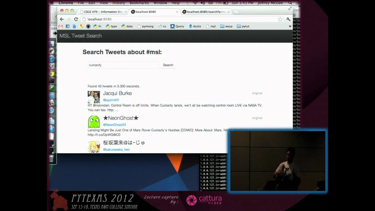 Image from Lightning Talk: MSL Tweet Search
