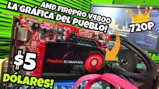 LA GRÁFICA DEL PUEBLO $5 AMD FIREPRO V4800 de EBAY! видео