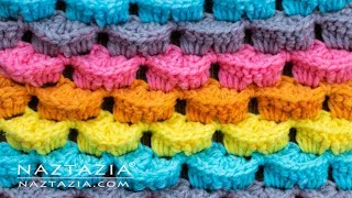 How to Crochet 3D Stitch - for Scarf Blanket Hat and More - Stitchorama by Naztazia