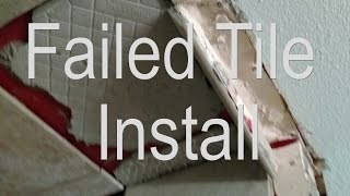 Tile Fail. Bad, hacked rotten tile installation.(, 2016-07-23T11:51:11.000Z)
