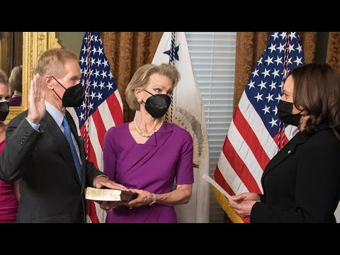 Vice President Harris Swears in NASA Administrator Sen. Bill Nelson