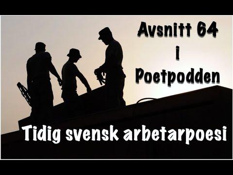 Trailer för avsnitt 64 i i Poetpodden Tidig svensk arbetarpoesi