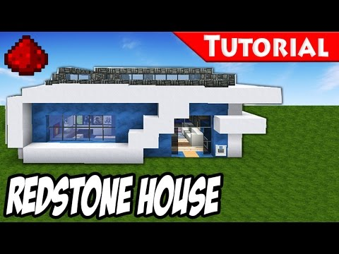 Minecraft: How to Build a Modern Redstone House / Tutorial + DOWNLOAD /