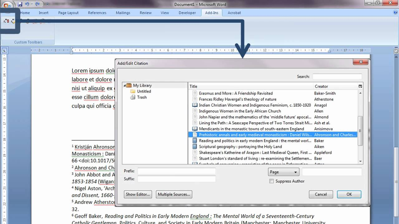 managing footnote references in your word processor by using managing footnote references in your word processor by using zotero brepolis bibliographies