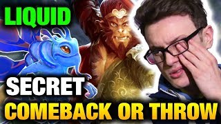 Liquid VS Secret - Another Comeback Or Throw? Miracle Instance Stun Monkey King Dota 2