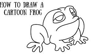 Wie zeichnet man einen cartoon-Frosch-Schritt für Schritt für Kinder