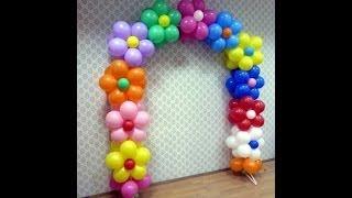 видео Как сделать арку из воздушных шаров