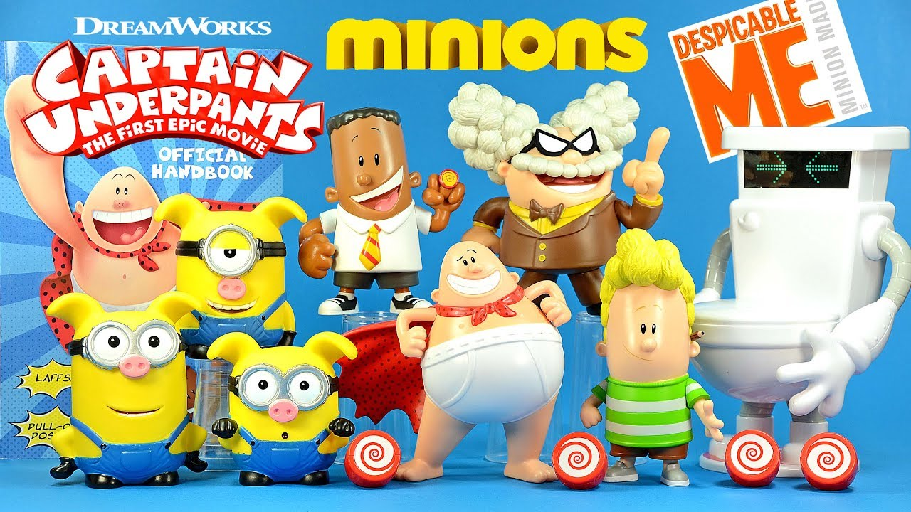 Captain Underpants Harold George Professor Poopypants Turbo Toilet 2000 Plus 3 Minion Piggies Youtube