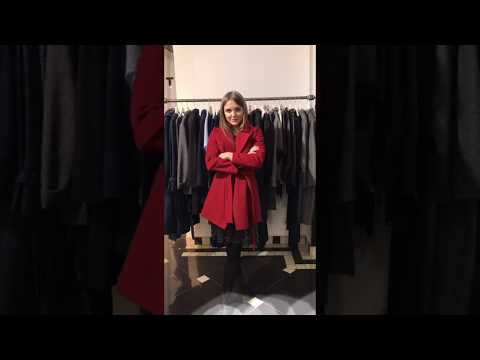 Женское пальто красное короткое | Интернет-магазин Am'Werkstatt | Распродажа пальто