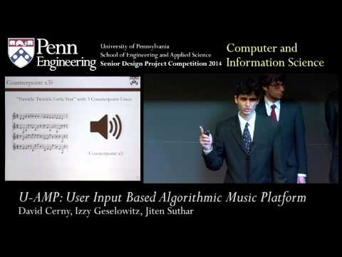 Senior Design 2014: U-AMP: User Input Based Algorithmic Music Platform