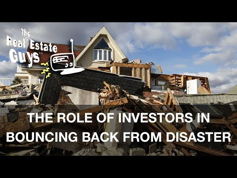 The Role of Investors in Bouncing Back from Disaster