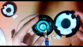 демпфирование наушников (модернизация AKG k518 LE)