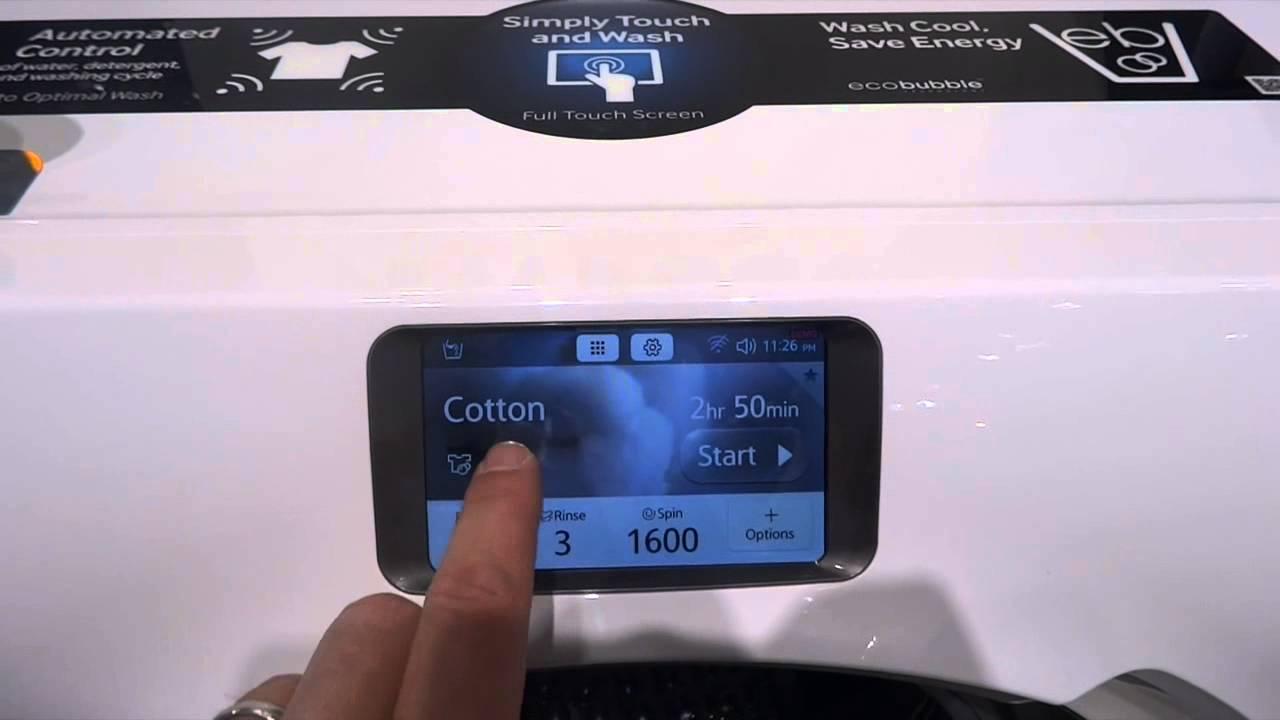 samsung ww9000 blue crystal washing machine youtube. Black Bedroom Furniture Sets. Home Design Ideas
