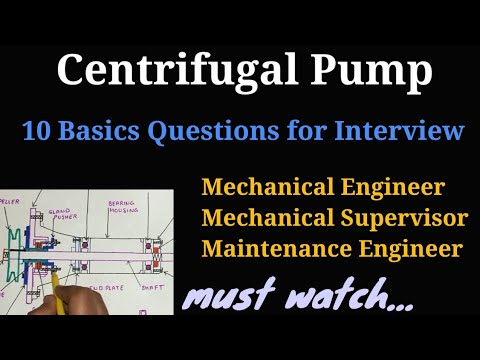 Centrifugal Pump 10 Basics Questions For Interviews In Hindi