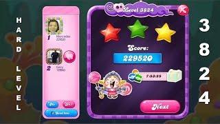 Candy Crush Saga 3824 | HARD LEVEL | 3-Star ⭐⭐⭐ | ONE TRY