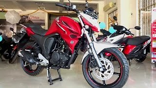 2017 yamaha fzs fi v2 0 test ride review what s new walkaround matte red white
